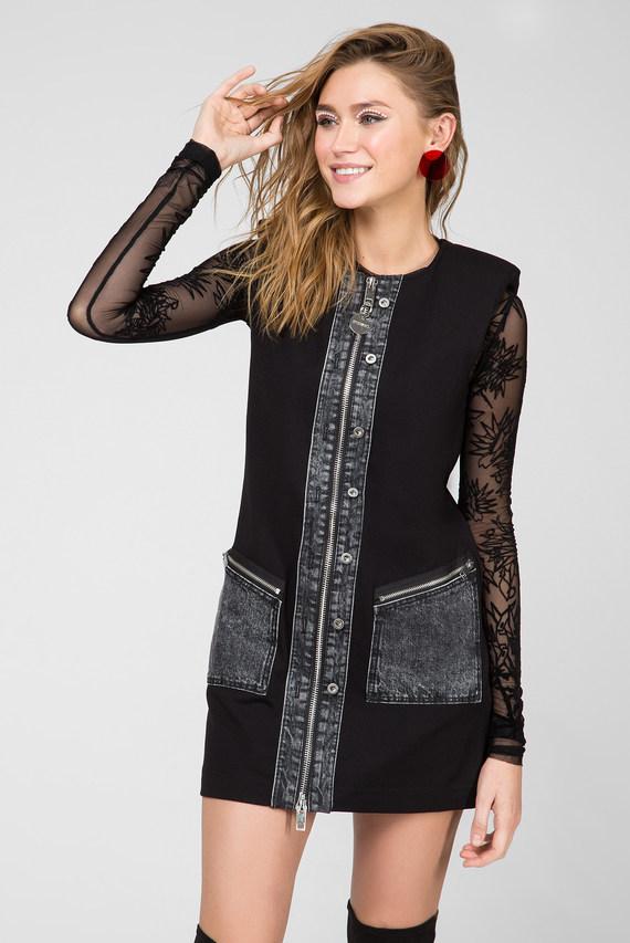 Женское черное платье D-SKUSA