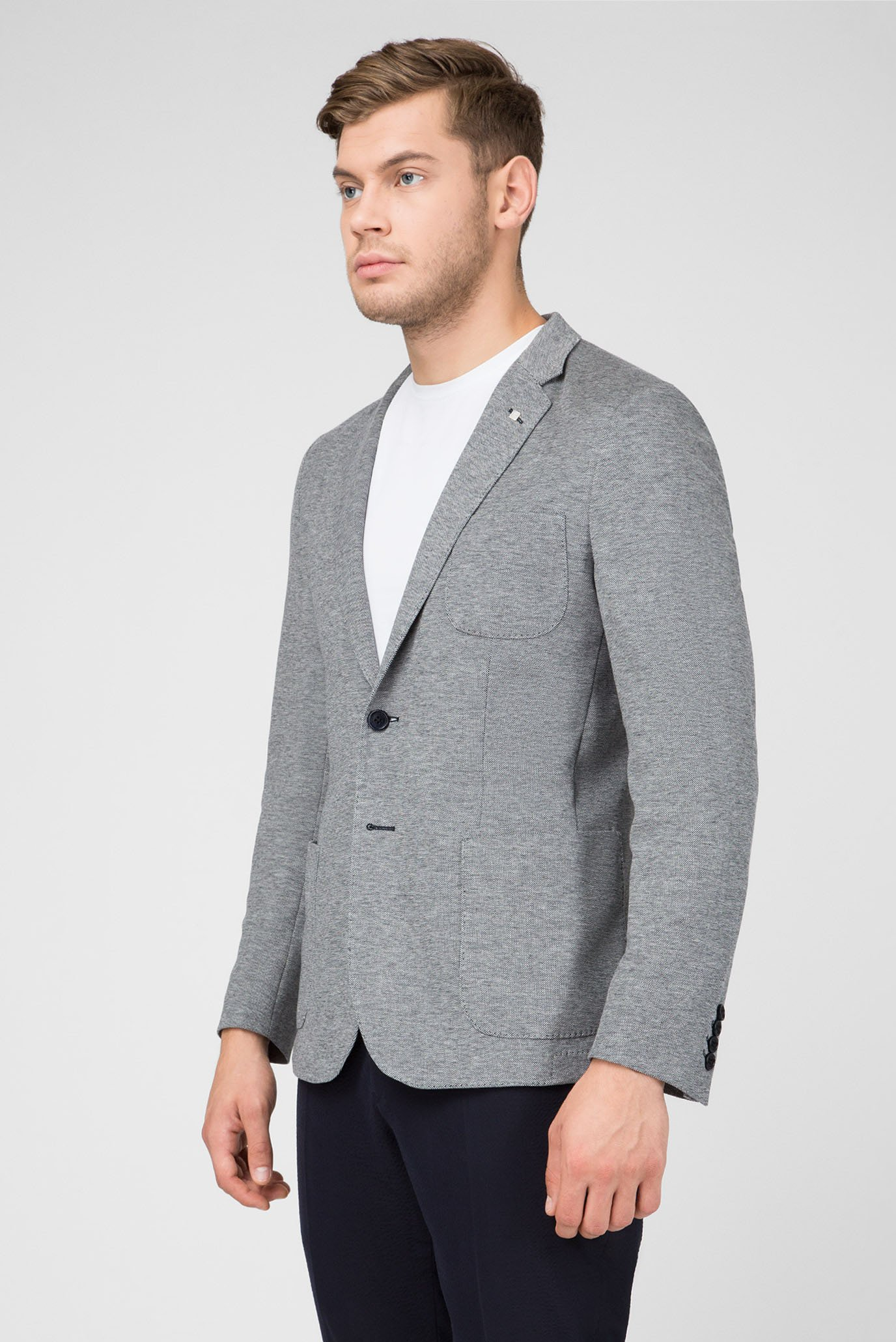 Купить Мужской серый пиджак Gant Gant 7700015 – Киев, Украина. Цены в интернет магазине MD Fashion