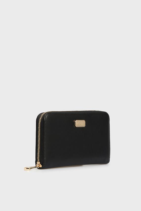 Женский черный кошелек MYA