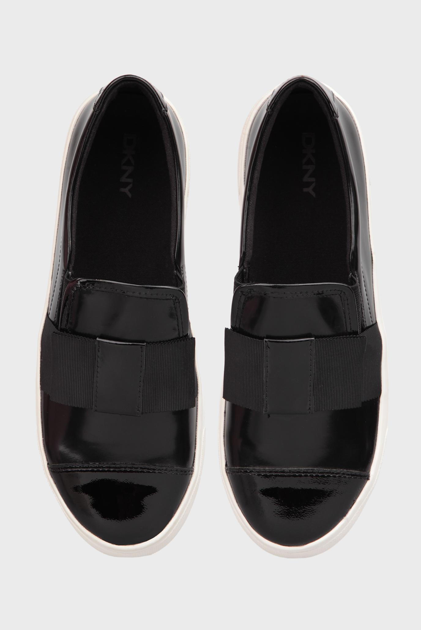 Купить Женские черные слипоны с бантом DKNY DKNY 23453388 – Киев, Украина. Цены в интернет магазине MD Fashion