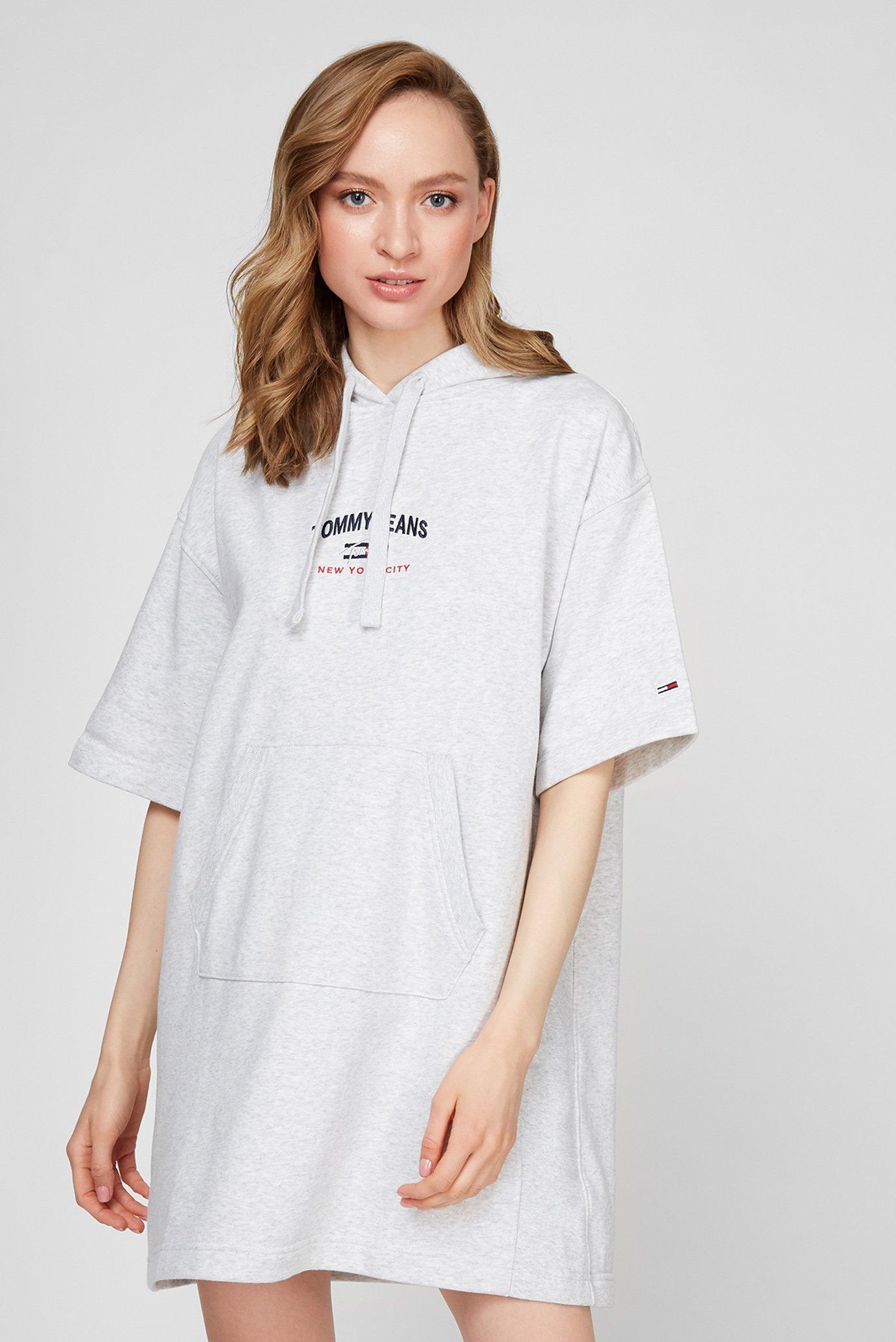 Женское серое платье TJW TIMELESS SCRIPT HOODIE DRESS 1