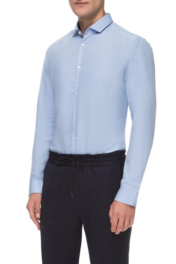 Мужская голубая рубашка Easy Iron Extra Slim Fit