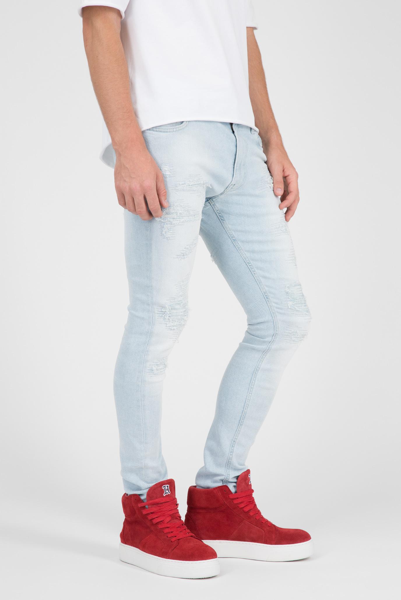 Мужские светло-голубые джинсы LEWIS HAMILTON DISTRESSED Tommy Hilfiger