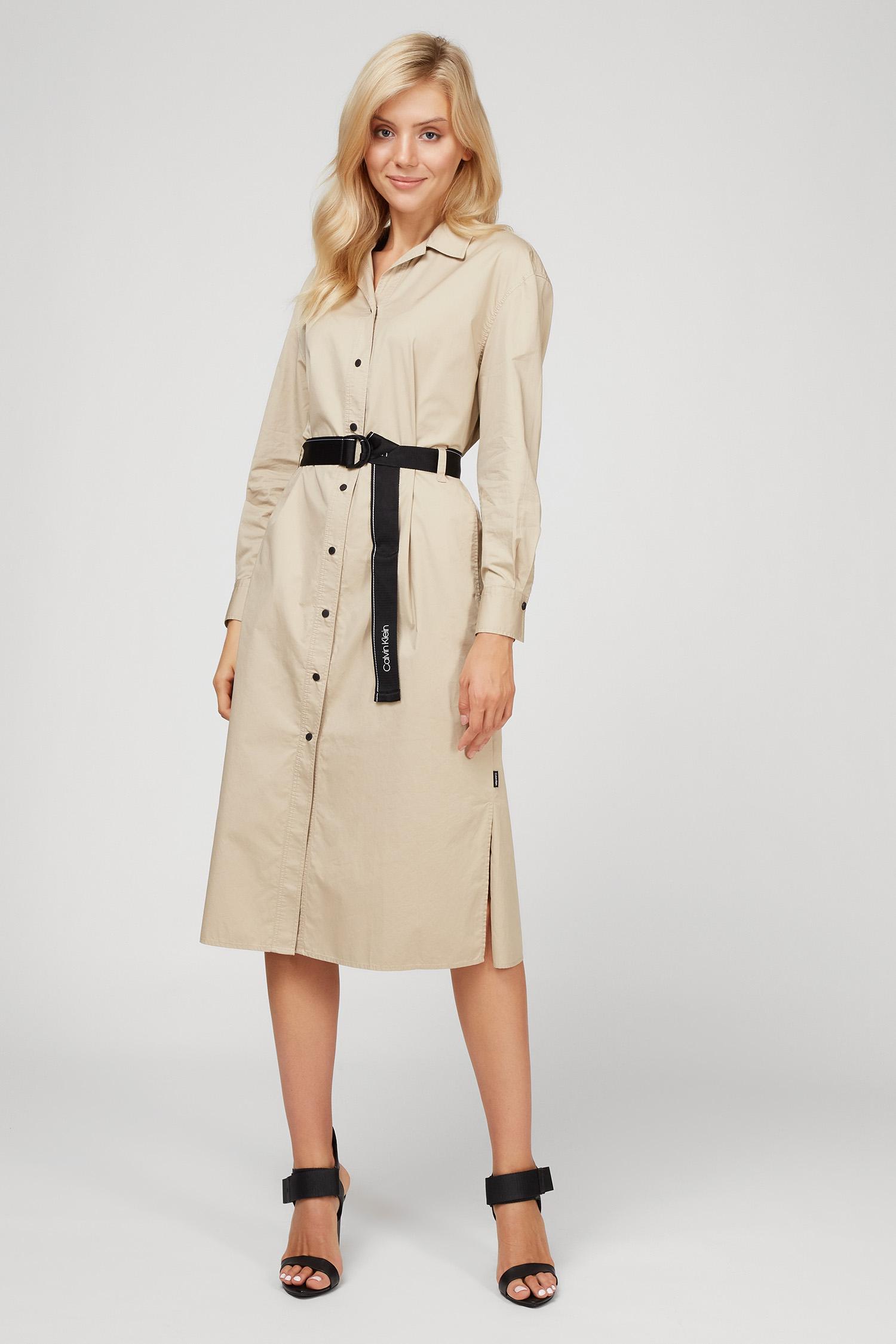 Женское бежевое платье SILKY TOUCH LS 1