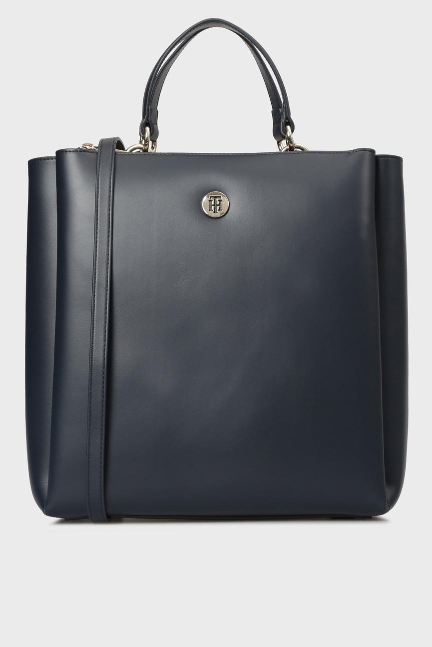 Женская темно-синяя сумка на плечо EFFORTLESS
