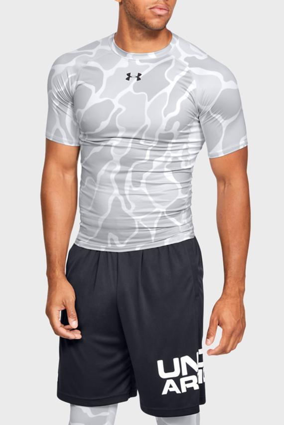 Мужская серая спортивная футболка с принтом UA HG ARMOUR SS NOV