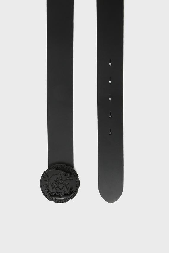 Мужской черный кожаный ремень B-TARZO
