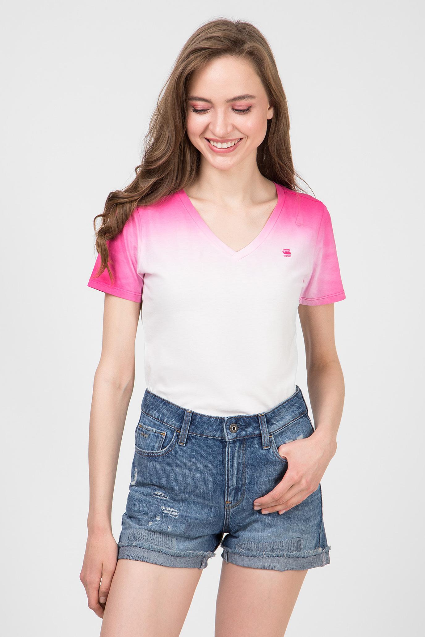 Женская розовая футболка Mysid 1