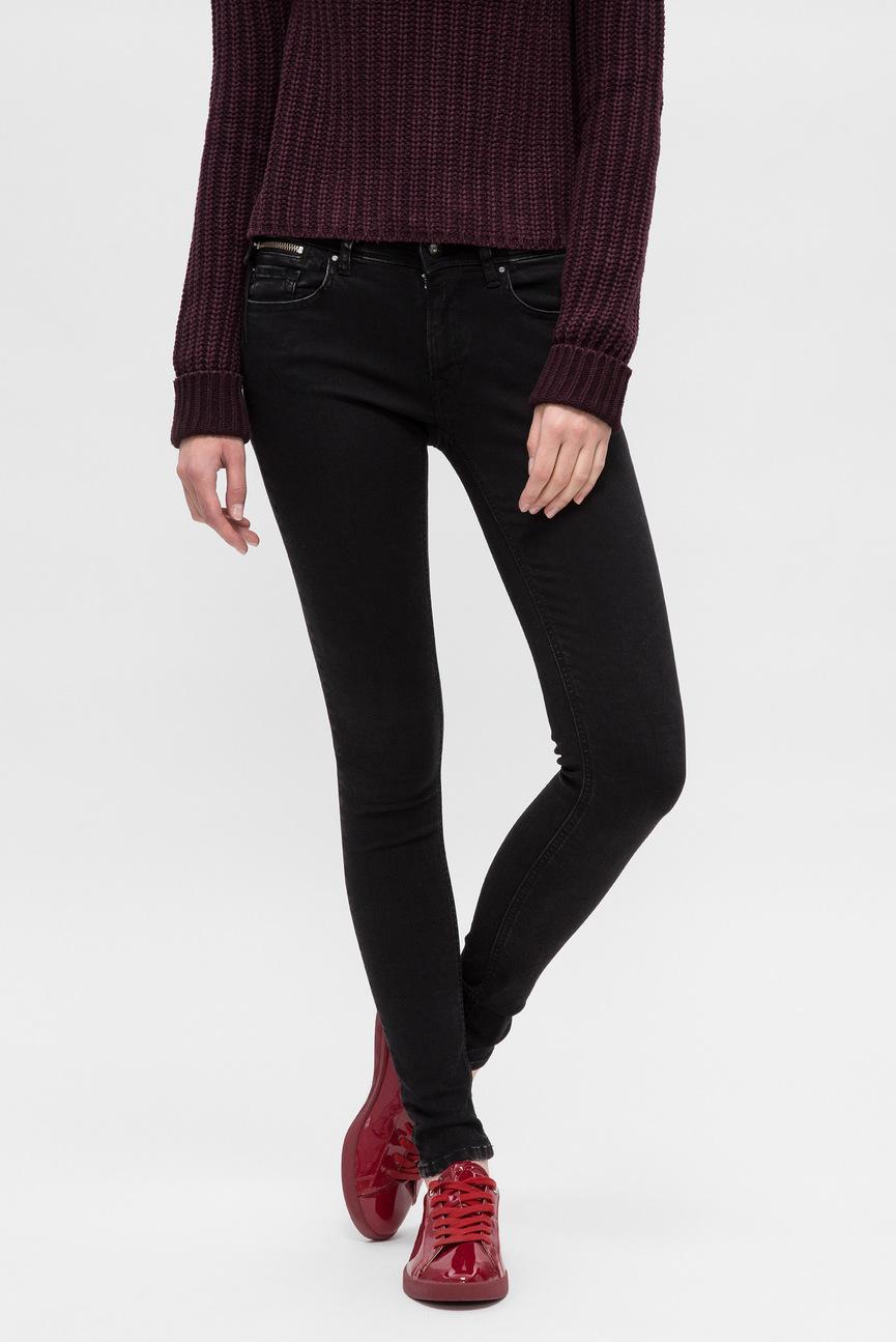 Женские черные джинсы LUZ COIN ZIP