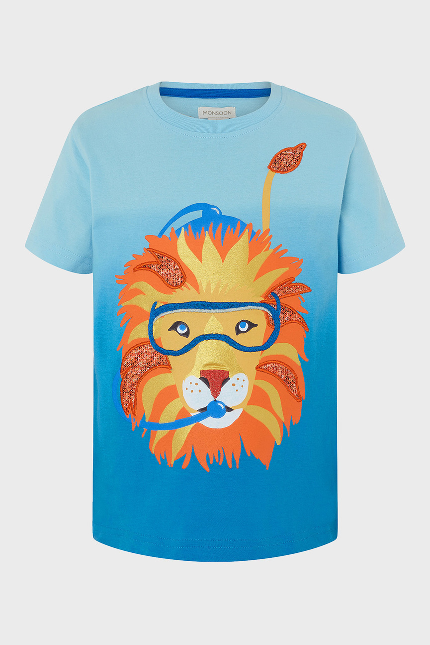 Детская голубая футболка Oscar Ombre Lion