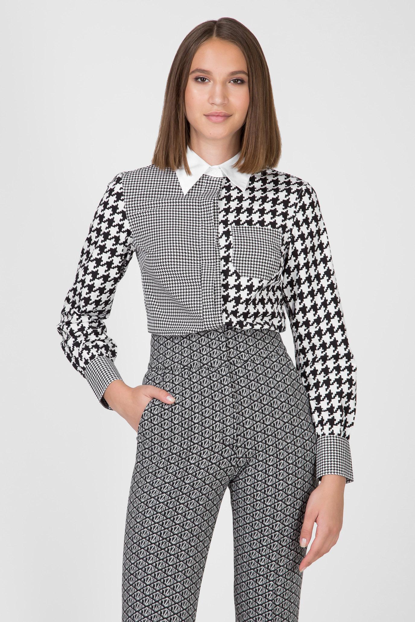 Женская рубашка с принтом ZENDAYA FITTED HOUNDSTOOTH Tommy Hilfiger