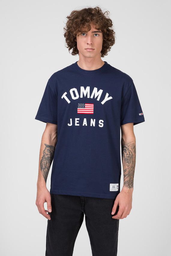 Мужская темно-синяя футболка TJM USA FLAG