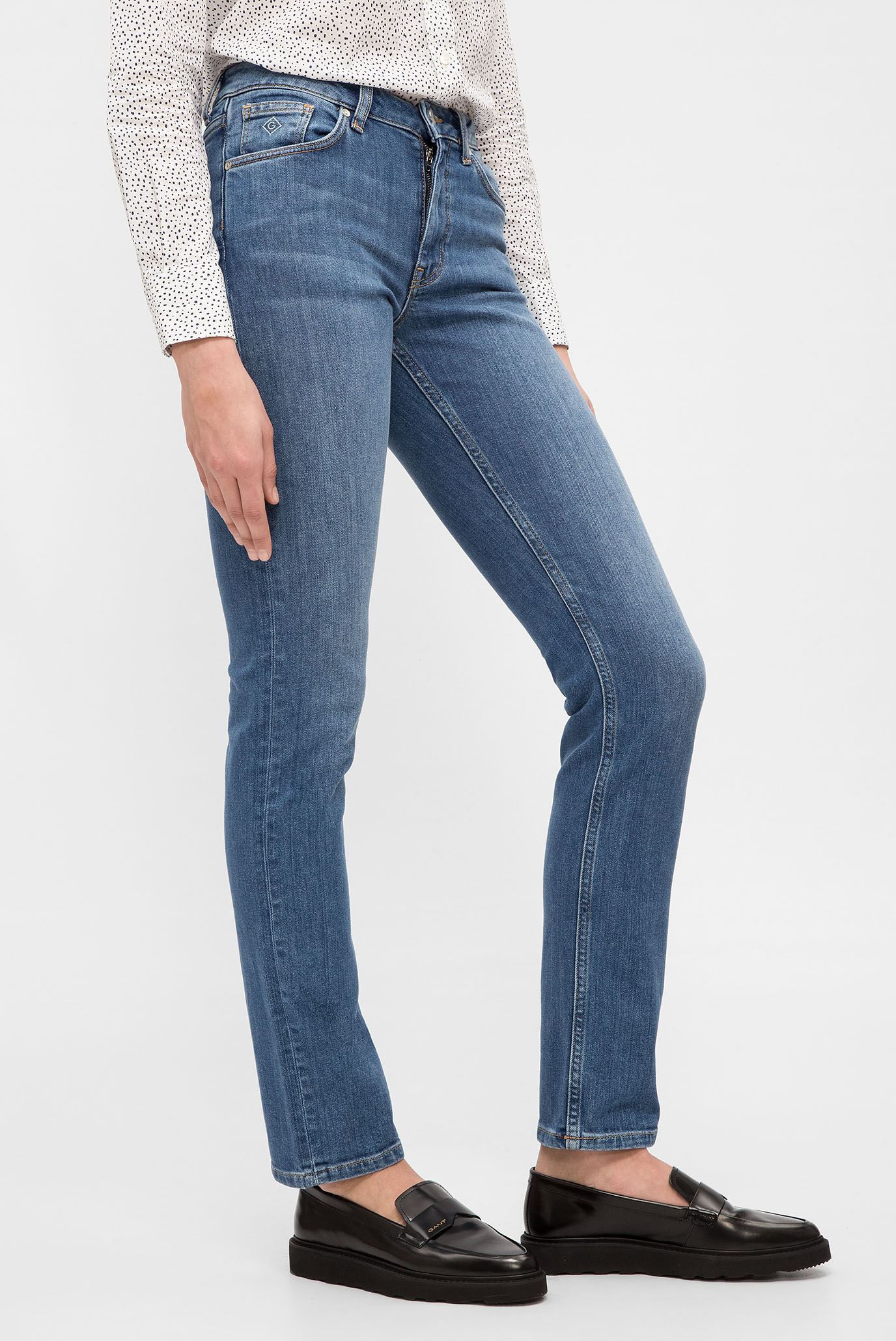 Купить Женские голубые джинсы Gant Gant 4100035 – Киев, Украина. Цены в интернет магазине MD Fashion