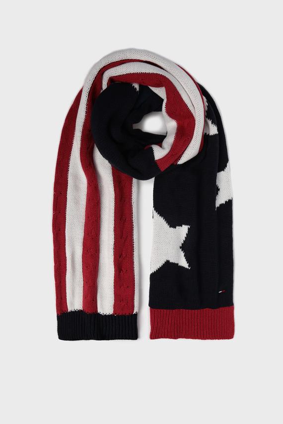 Мужской шарф с узором TJM AMERICAN KNIT