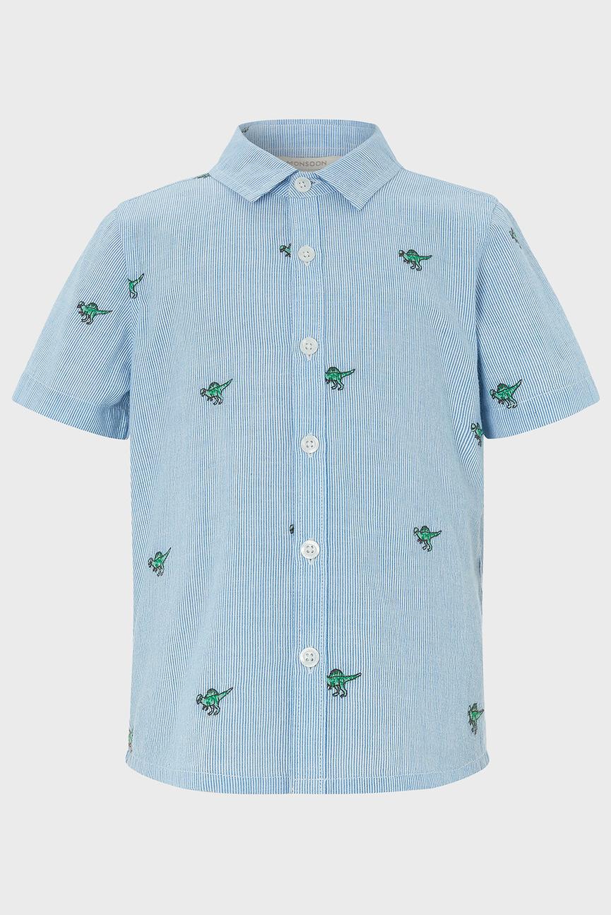 Детская голубая рубашка Nixon Dinosaur