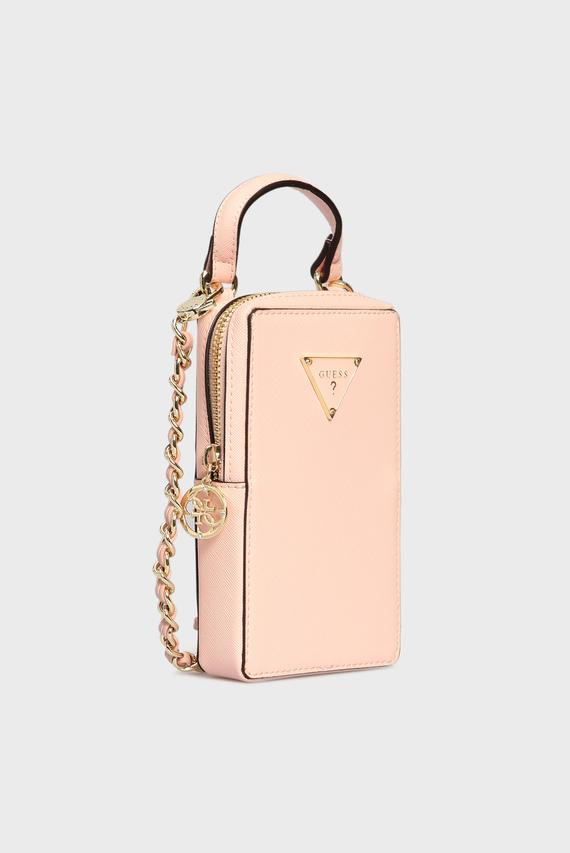 Женская розовая сумка для телефона