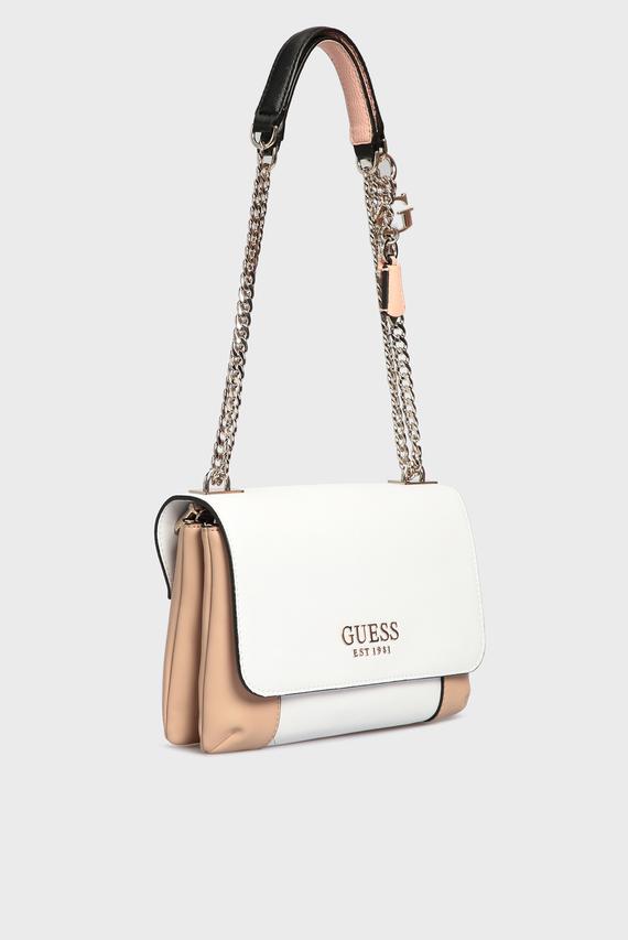 Женская белая сумка на плечо