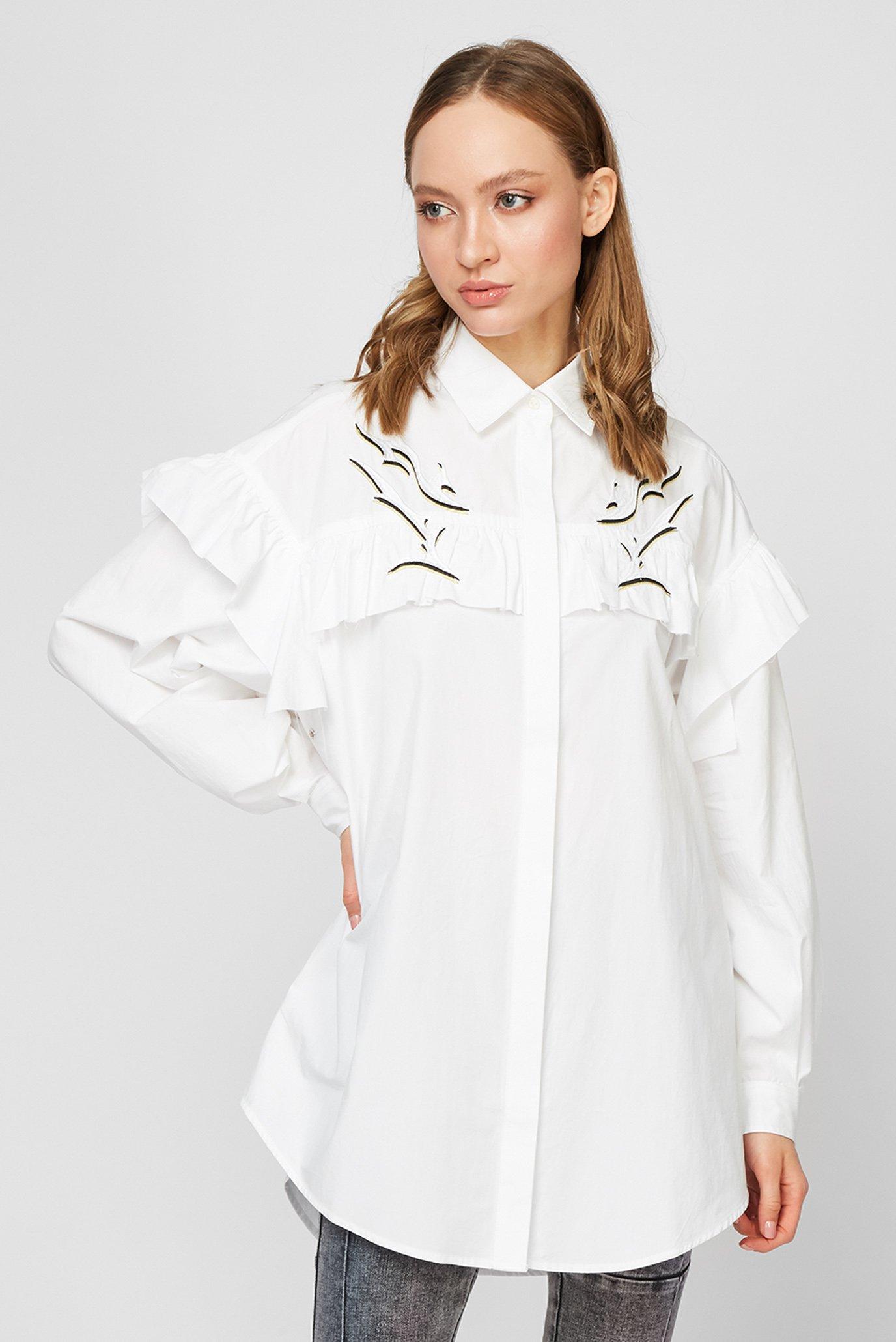 Жіноча біла сорочка C-JODI 1