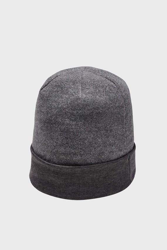 Мужская темно-серая шапка CGI Fleece Beanie