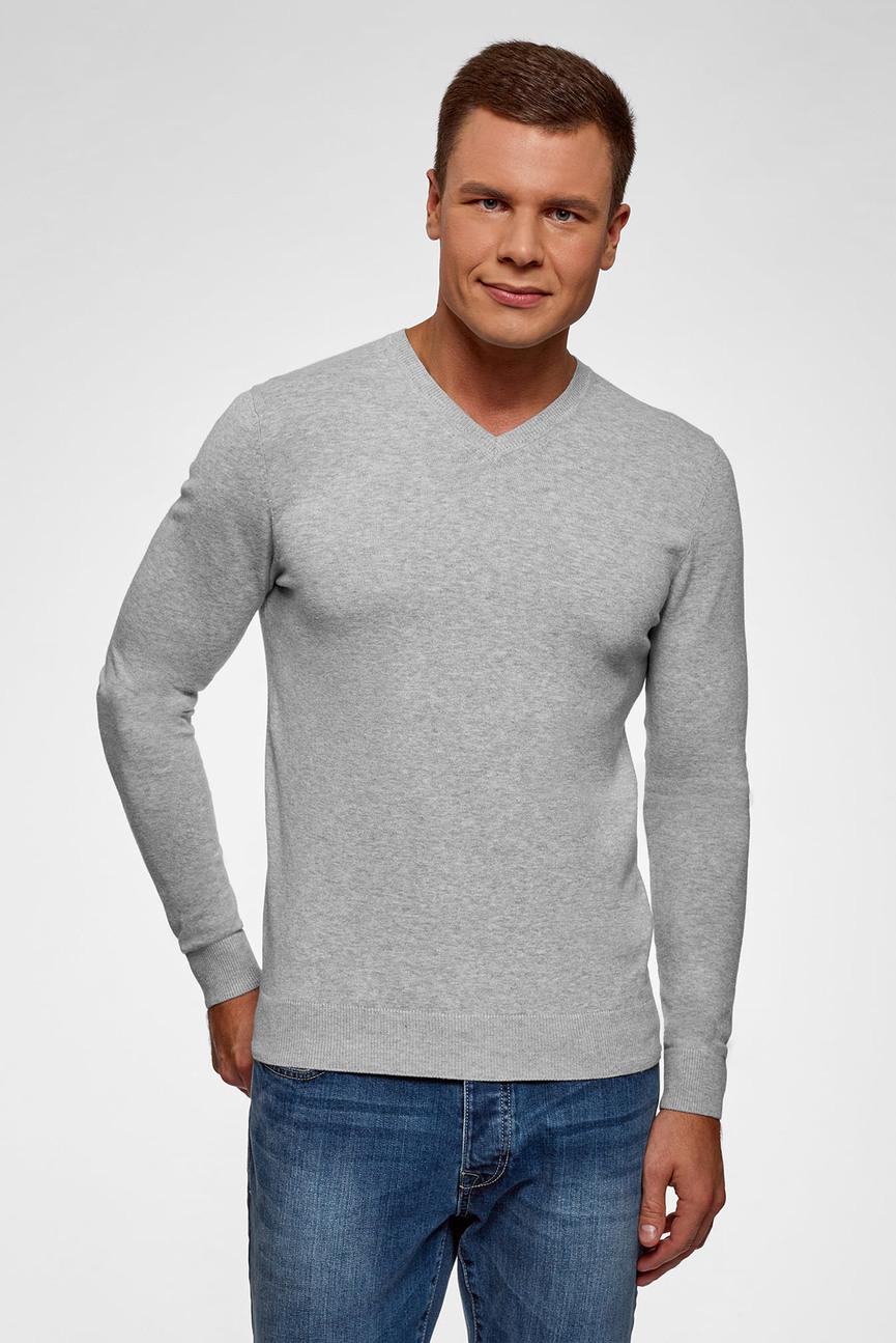 Мужской серый пуловер