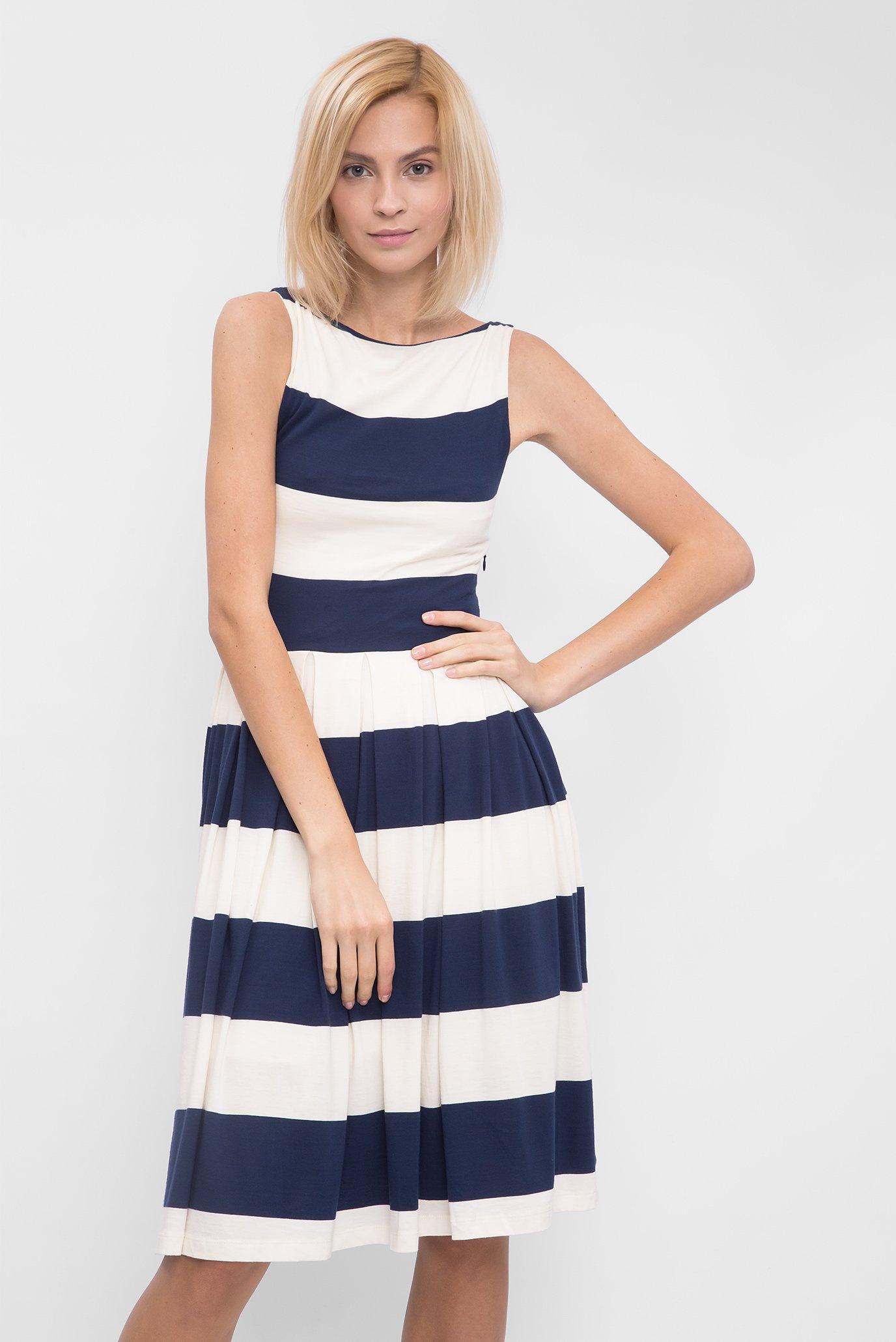 e1ff247d209 Купить Женское синее платье-миди в полоску Gant Gant 407301-471 – Киев