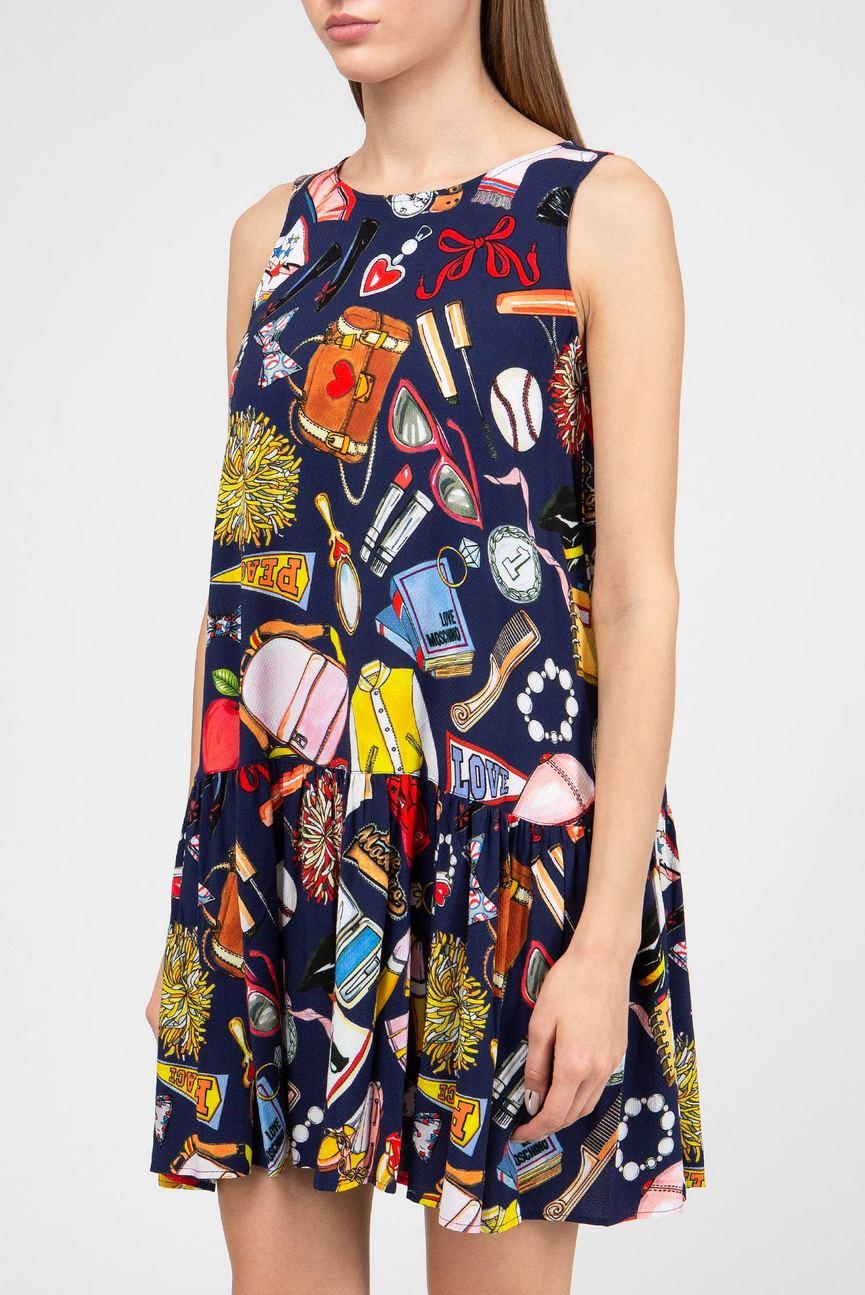 Женское принтованное платье