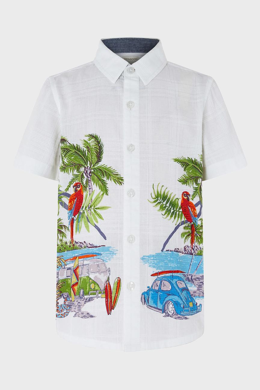 Детская бежевая рубашка Zayden Jungle