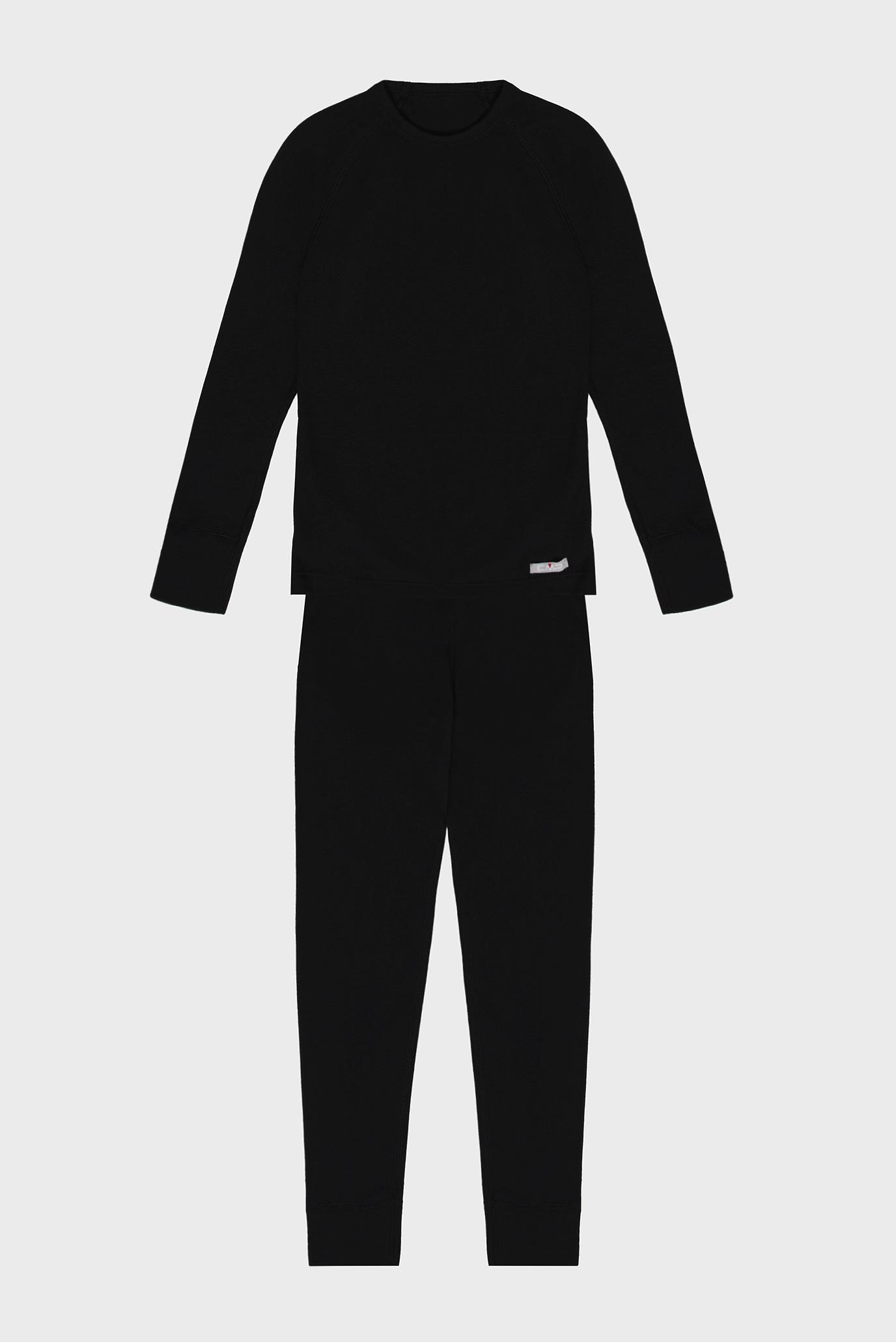 Дитяча чорна термобілизна (лонгслів, брюки) JUNIOR UNDERWEAR 1