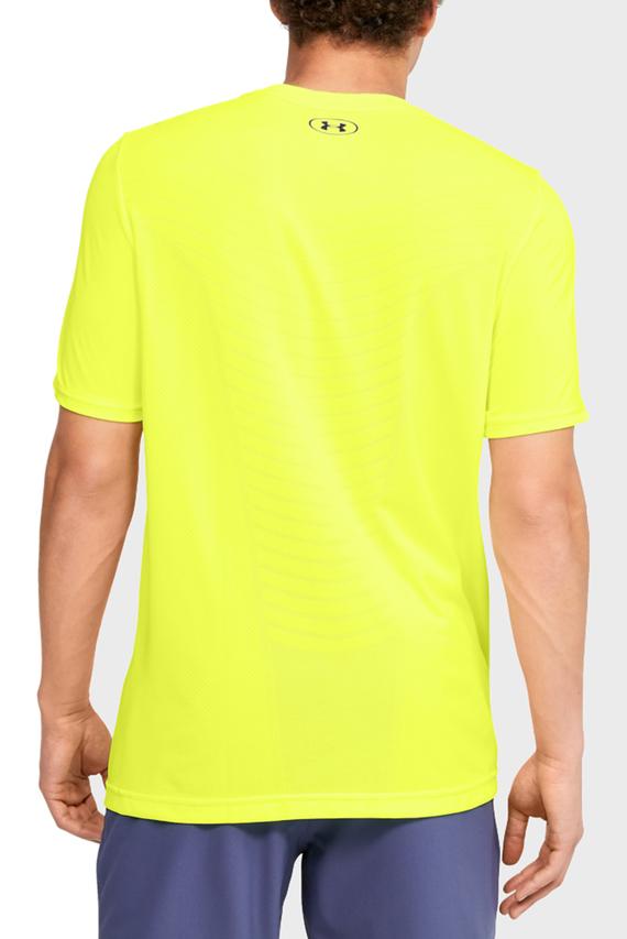 Мужская желтая спортивная футболка Seamless Wave SS
