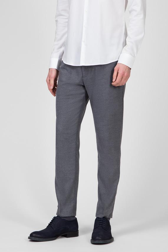 Мужские серые брюки TAPERED PLEAT MELANGE