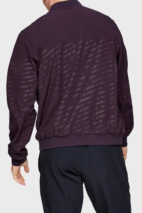 Мужская фиолетовая спортивная кофта UNSTOPPABLE EMBOSS BOMBER