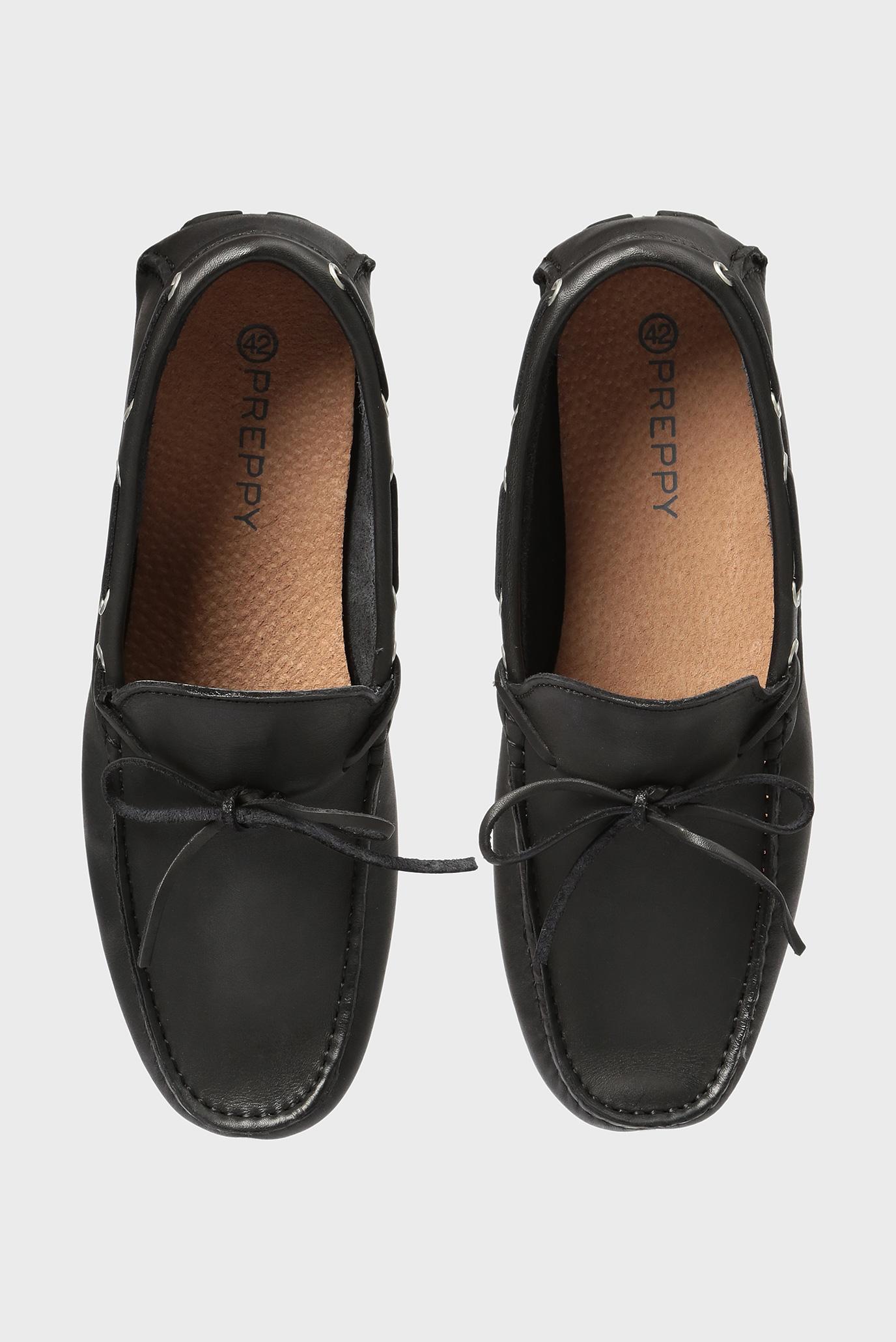 Купить Мужские черные кожаные мокасины Preppy Preppy 6.34.32300.415 – Киев, Украина. Цены в интернет магазине MD Fashion
