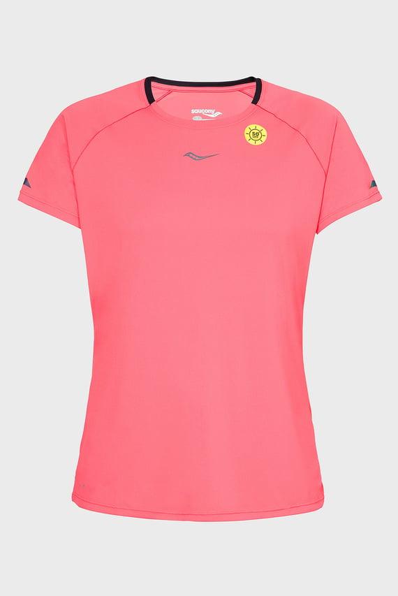 Женская коралловая футболка UV LITE SHORT SLEEVE