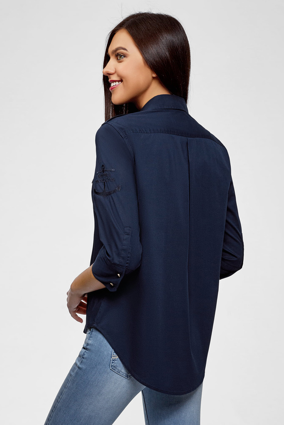 Женская синяя рубашка