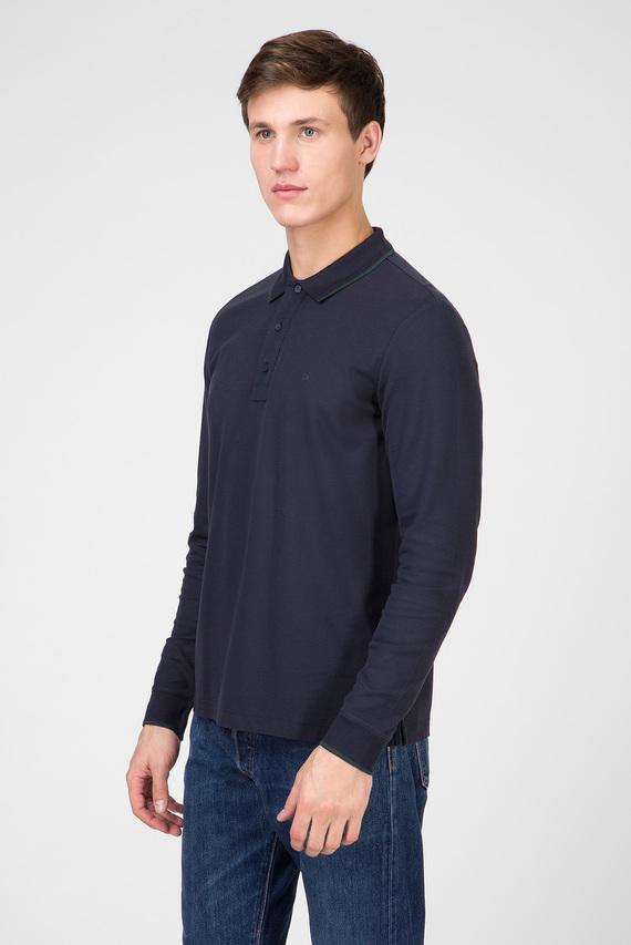 Мужское темно-синее поло PIQUE LOGO TIPPING LONG