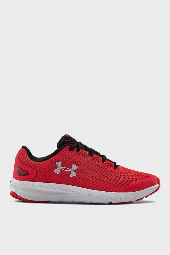Детские красные кроссовки UA GS Charged Pursuit 2-RED