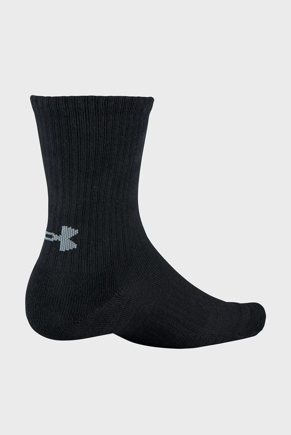 Черные носки UA Training Cotton Crew (3 пары)