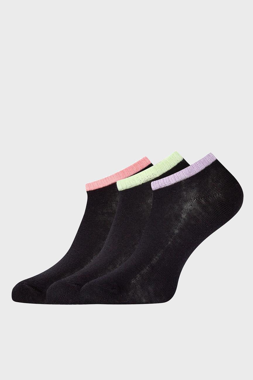 Женские черные носки (3 пары)
