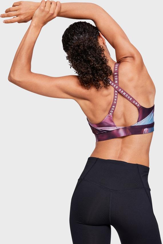 Женское фиолетовое спортивное бра Vanish Mid Print