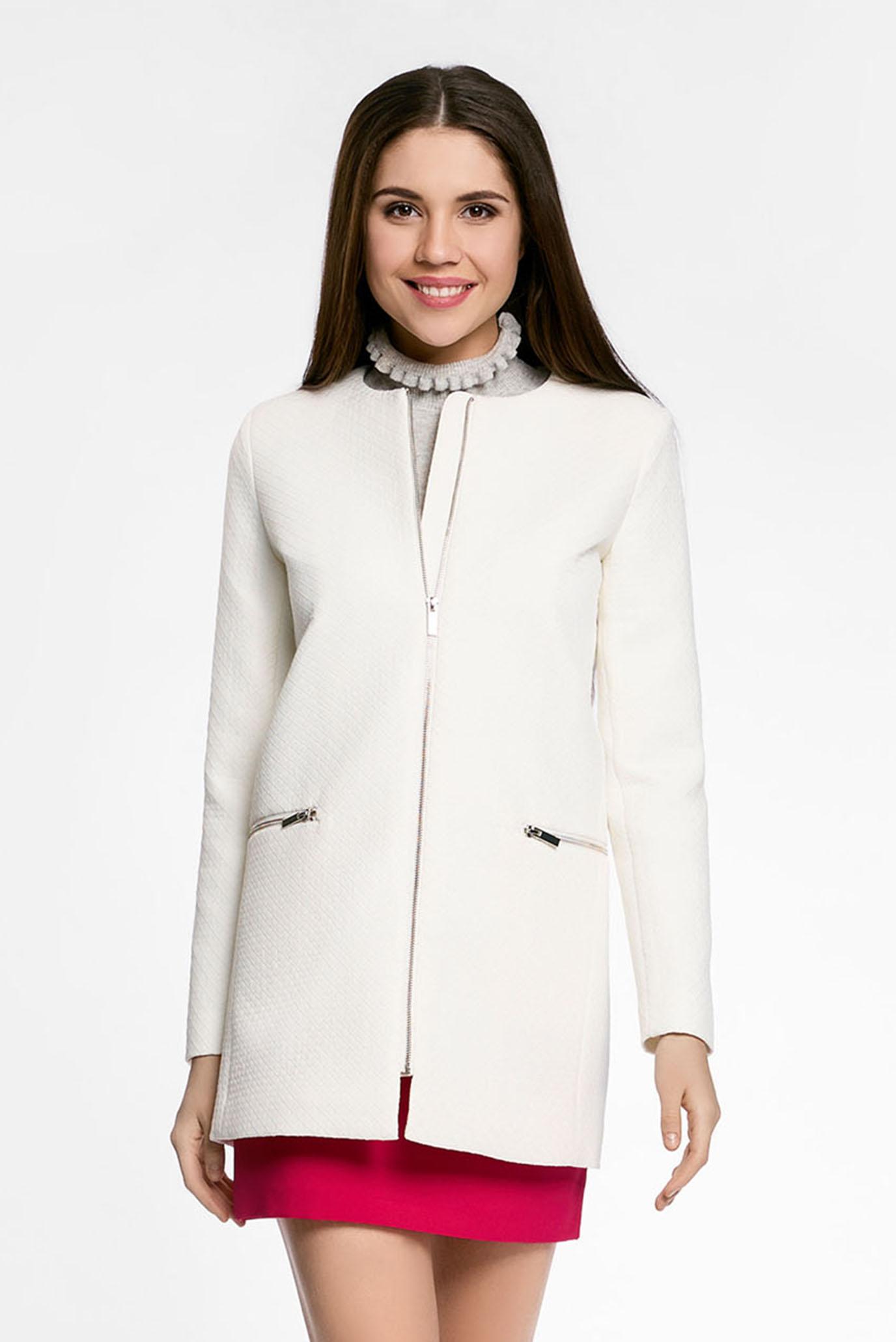 d2081c785cb Купить Женское белое пальто Oodji Oodji 10103012-3 45270 3000N – Киев