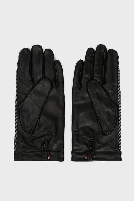 Мужские кожаные перчатки HERRINGBONE
