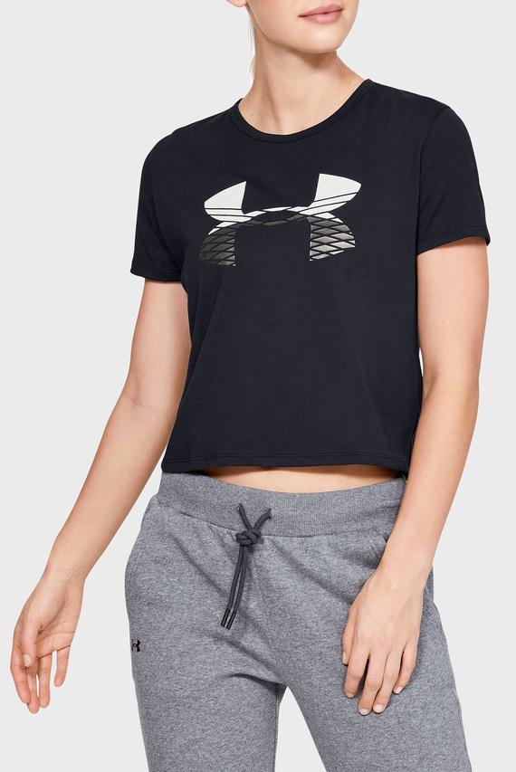 Женская черная футболка GRAPHIC FASHION BABY TEE LOGO