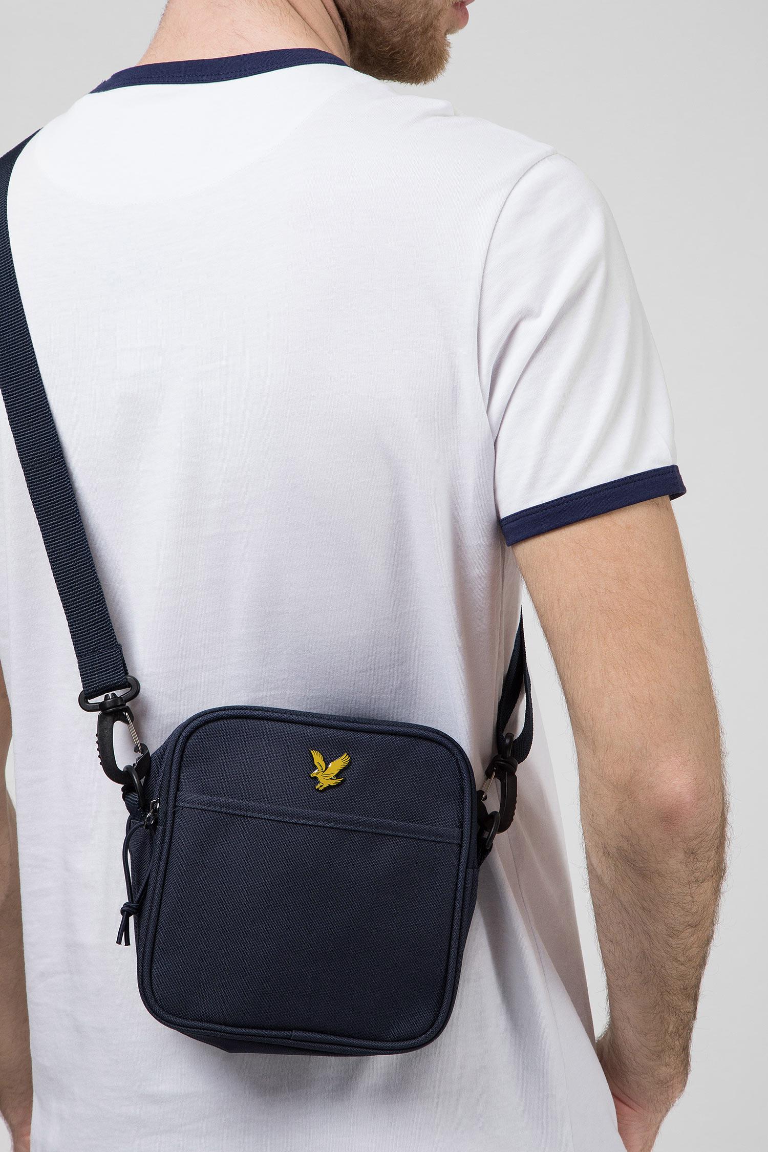 Мужская темно-синяя сумка через плечо Lyle & Scott