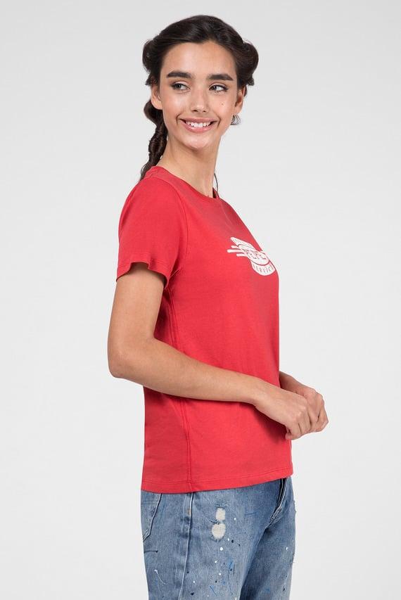 Женская красная футболка AGNES