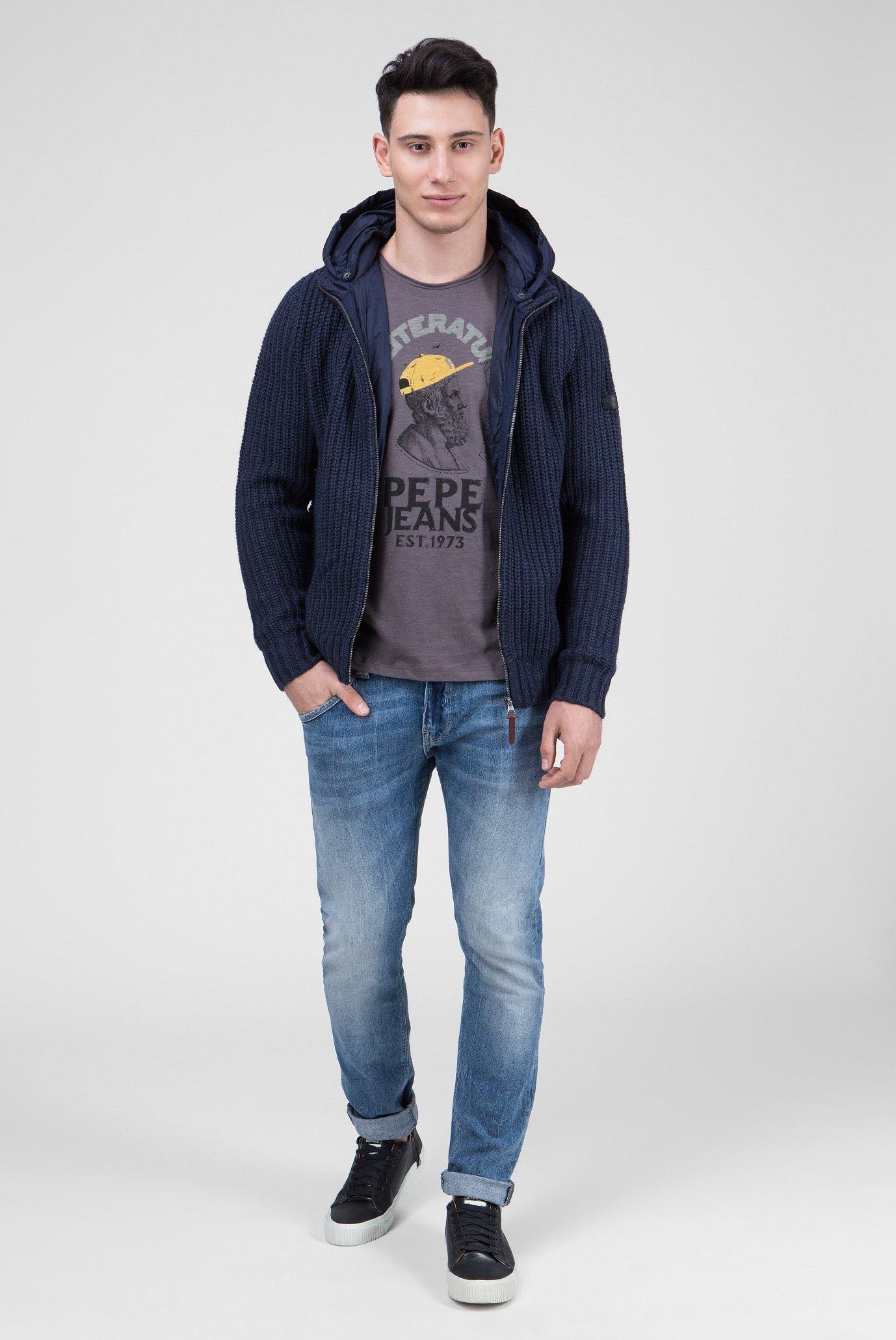 Купить Мужская синяя куртка LEICESTER Pepe Jeans Pepe Jeans PM701836 – Киев, Украина. Цены в интернет магазине MD Fashion