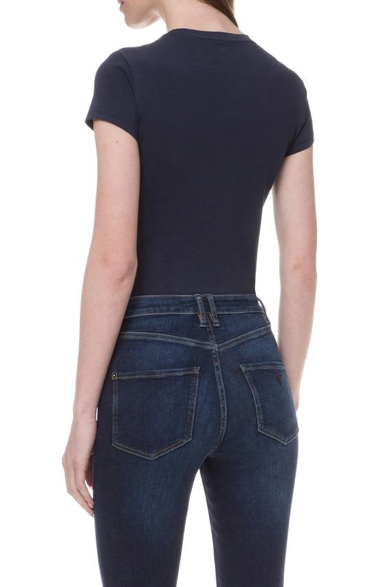 Женская темно-синяя футболка