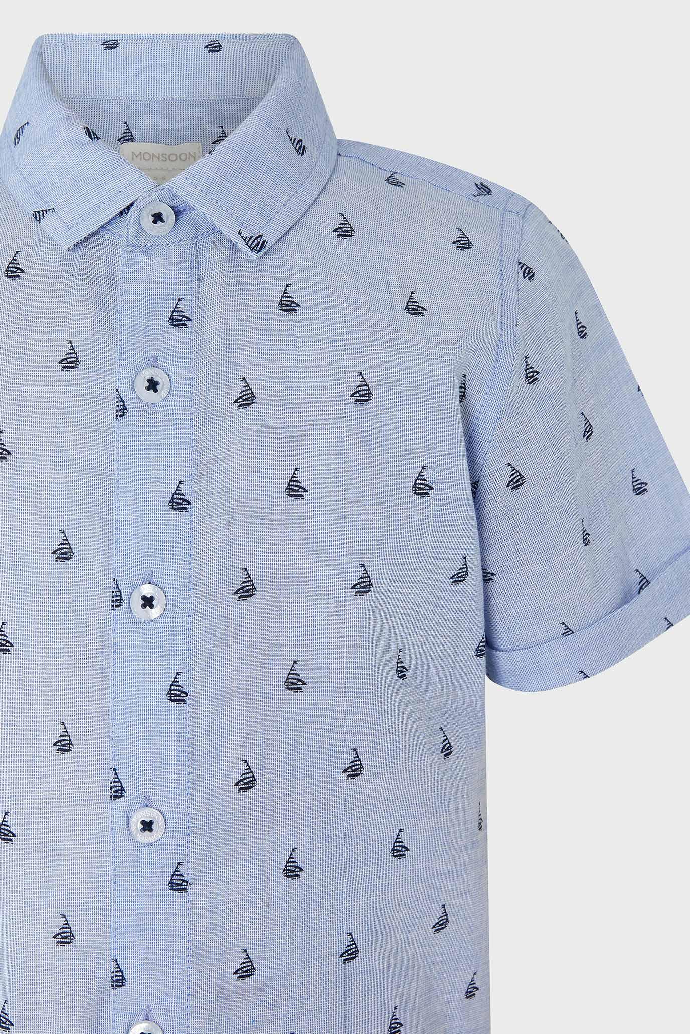 Детская голубая рубашка Morgan Boat Monsoon Children