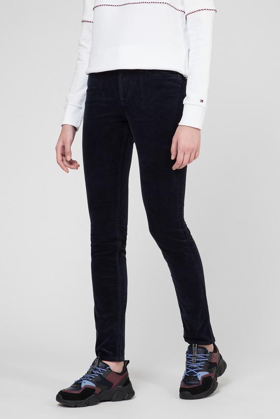 Женские темно-синие вельветовые брюки ROME STRAIGHT RW MAYA