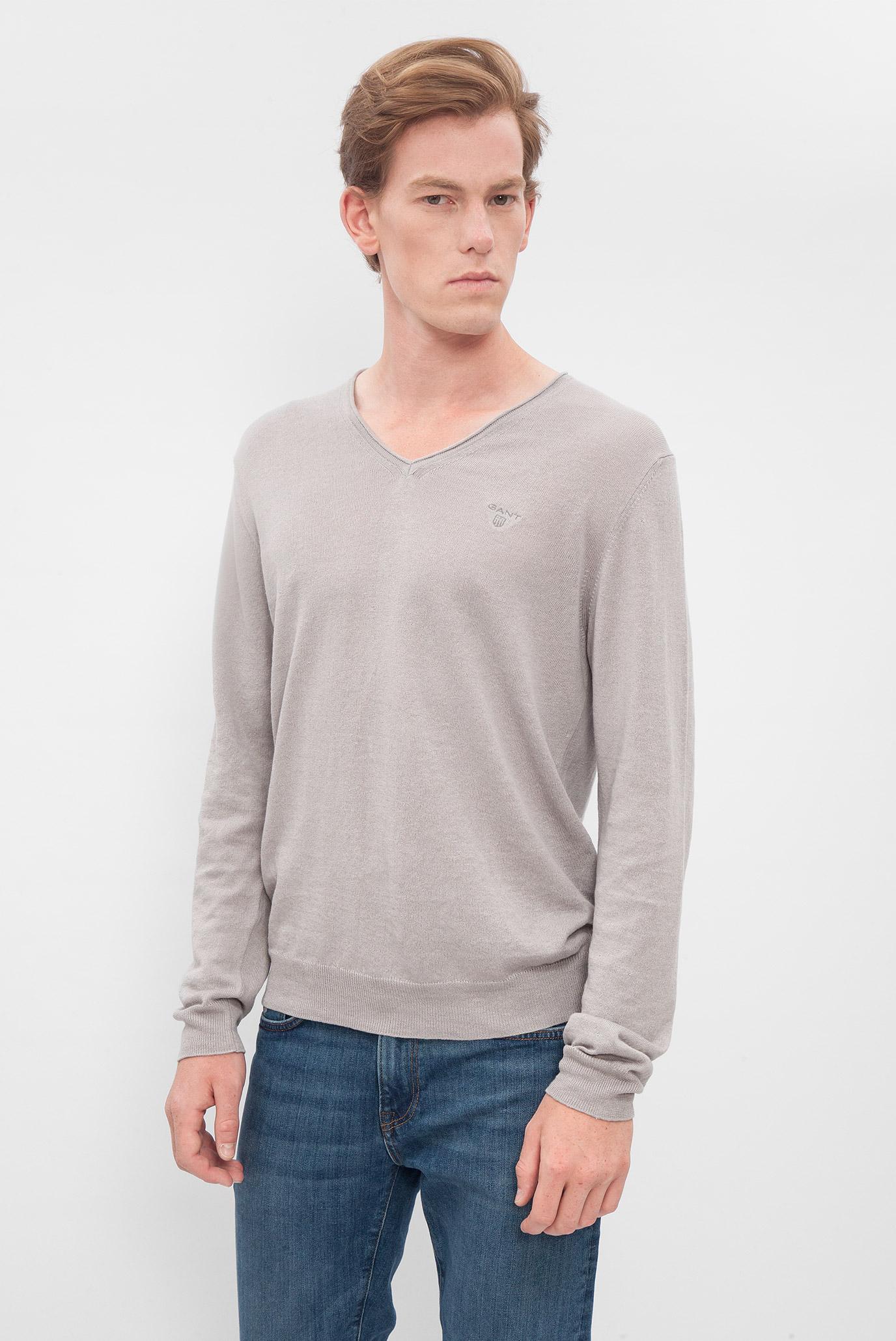 Купить Мужской серый пуловер Gant Gant 88532 – Киев, Украина. Цены в интернет магазине MD Fashion