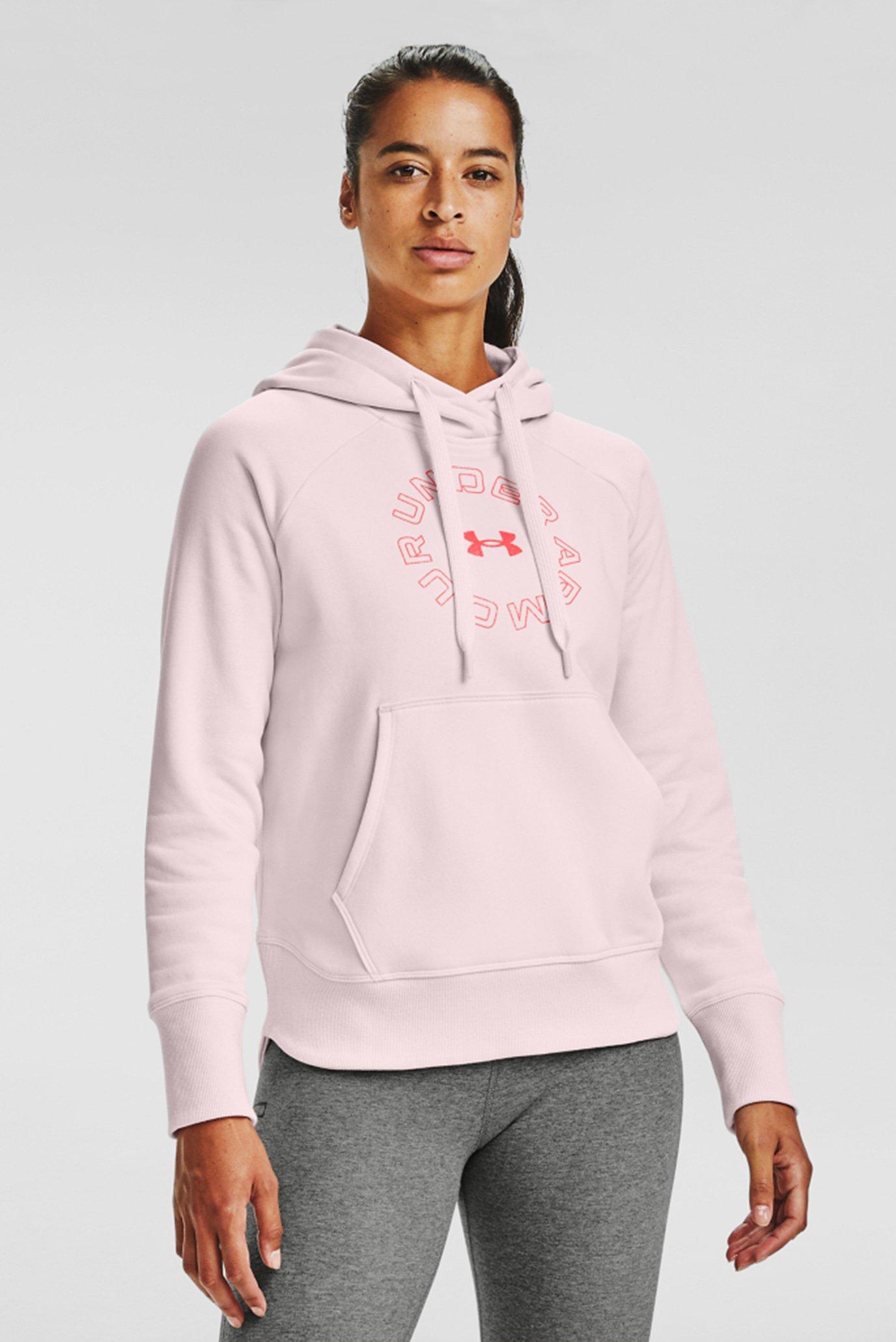 Женское розовое худи Rival Fleece Metallic Hoodie 1